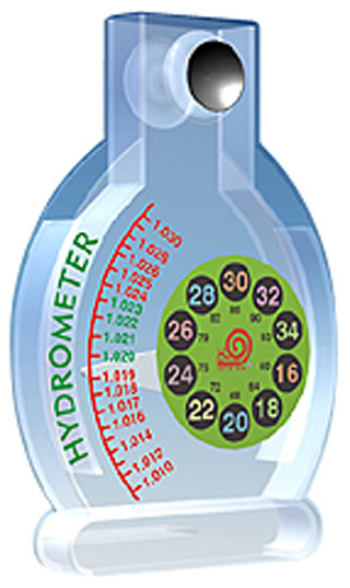 MULTI FUNCTIONAL SALTWATER-Hydrometer & Digital Thermometer
